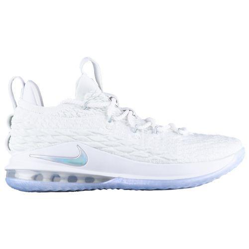 (取寄)ナイキ メンズ バッシュ レブロン 15 ロー レブロン ジェームズ バスケットシューズ Nike Men's LeBron 15 Low Lebron James White Metallic Silver Atmosphere Grey