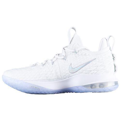 fca8ab2386af6 (order) Nike men basketball shoes Revlon 15 Lorre Bronn James basketball  shoes Nike Men s LeBron 15 Low Lebron James White Metallic Silver  Atmosphere Grey