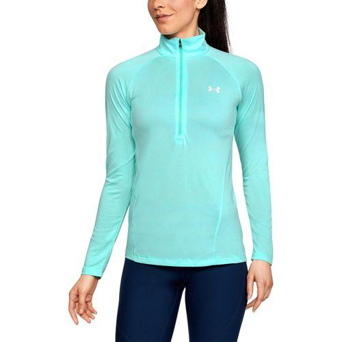 (取寄)アンダーアーマー レディース テック 1/2 ジップ Under Armour Women's Tech 1/2 Zip Tropical Tide Tropical Tide Metallic Silver