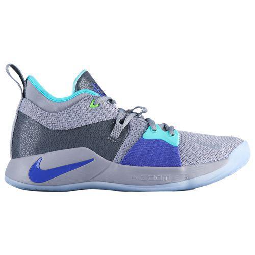 (取寄)ナイキ メンズ バッシュ PG 2 ポール ジョージ バスケットシューズ Nike Men's PG 2 Paul George Pure Platinum Neo Turq Wolf Grey Aurora Green