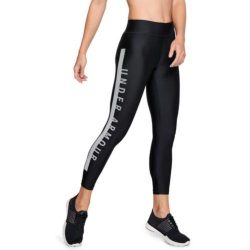 (取寄)アンダーアーマー レディース アーマー グラフィック アンクル クロップ タイツ Under Armour Women's Armour Graphic Ankle Crop Tights Black White