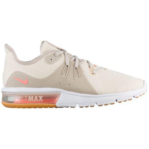 (取寄)ナイキ レディース ランニングシューズ スニーカー エアマックス シークエント 3 Nike Women's Air Max Sequent 3 Lt Cream Crimson Tint White String