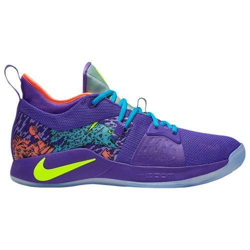 (取寄)ナイキ メンズ バッシュ PG 2 ポール ジョージ バスケットシューズ Nike Men's PG 2 Paul George Cannon Volt Purple Venom