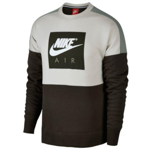 c9f9bd0d18e14e (取寄)ナイキ メンズ エア フリース クルー Men s Air Fleece Crew Light Bone Dark Stucco  Sequoia Nike-スウェット・トレーナー
