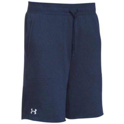 (取寄)アンダーアーマー メンズ チーム ハッスル フリース ショーツ Under Armour Men's Team Hustle Fleece Shorts Midnight Navy White