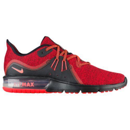 ナイキ メンズ エアマックス シークエント 3 ランニングシューズ スニーカー Nike Men's Air Max Sequent 3 Black Total Crimson University Red