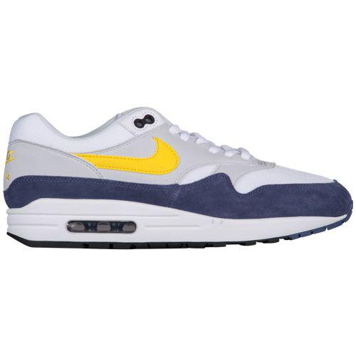 lowest price ac97c 7e2e9 (order) Nike men sneakers Air Max 1 Nike Men s Air Max 1 White Tour Yellow  Blue Recall Pure Platinum