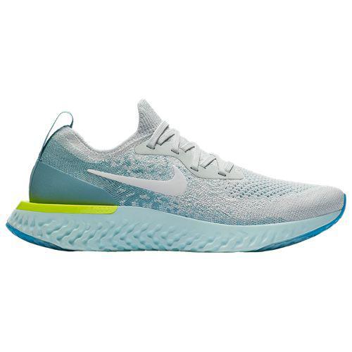 (取寄)ナイキ レディース エピック リアクト フライニット ランニングシューズ スニーカー Nike Women's Epic React Flyknit Pure Platinum White Volt Glow