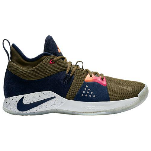 (取寄)ナイキ メンズ バッシュ PG 2 ポール ジョージ バスケットシューズ Nike Men's PG 2 Paul George Olive Canvas Obsidian