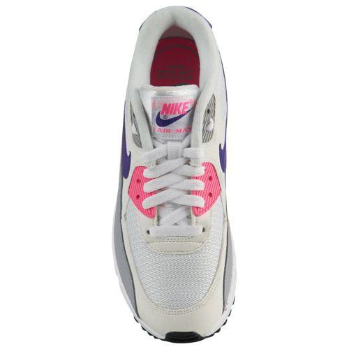 (order) Nike Lady s Air Max 90 Nike Women s Air Max 90 White Court Purple  Wolf Grey Laser Pink 9887751ca1