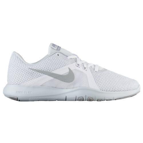ccc90ac55b58 JETRAG Rakuten Ichiba Shop  (order) Nike Lady s sneakers training shoes  flextime trainer 8 Nike Women s Flex Trainer 8 White Metallic Silver