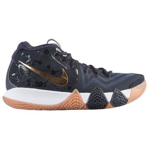 (取寄)ナイキ メンズ スニーカー バッシュ 4 カイリー アービング バスケットシューズ Nike Men's Kyrie 4 Kyrie Irving Pitch Blue Metallic Gold
