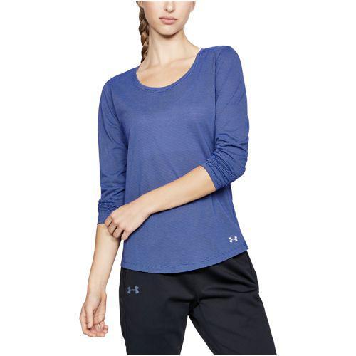 (取寄)アンダーアーマー レディース ストライカー ロング スリーブ トップ Under Armour Women's Streaker Long Sleeve Top Formation Blue Oxford Blue Reflective