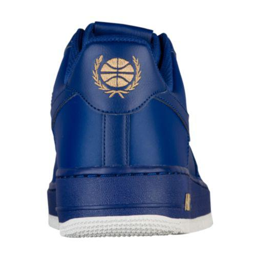 (order) Nike men air force 1 low Nike Men s Air Force 1 Low Deep Royal Blue  Blue Summit White Metallic Gold ce5a69a122