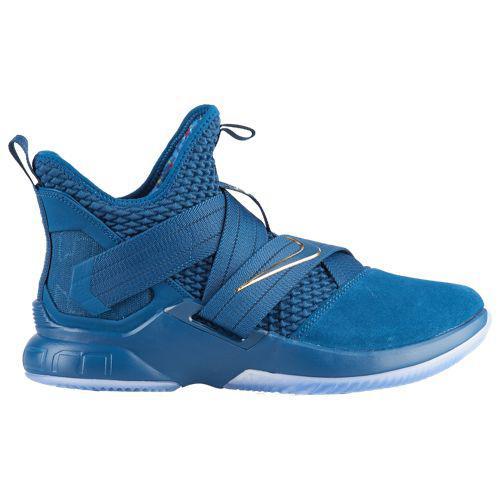 (取寄)ナイキ メンズ バッシュ ソルジャー 12 SFG レブロン ジェームズ バスケットボール Nike Men's Soldier XII SFG Lebron James Blue Force Metallic Gold Aegean Storm