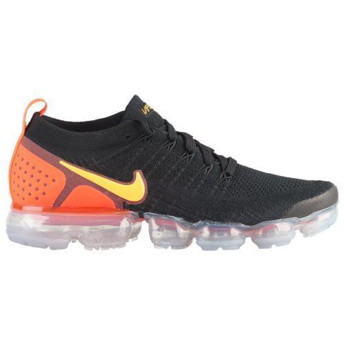 (取寄)ナイキ メンズ スニーカー ランニングシューズ エア ヴェイパーマックス フライニット 2 Nike Men's Air Vapormax Flyknit 2 Black Laser Orange Total Crimson