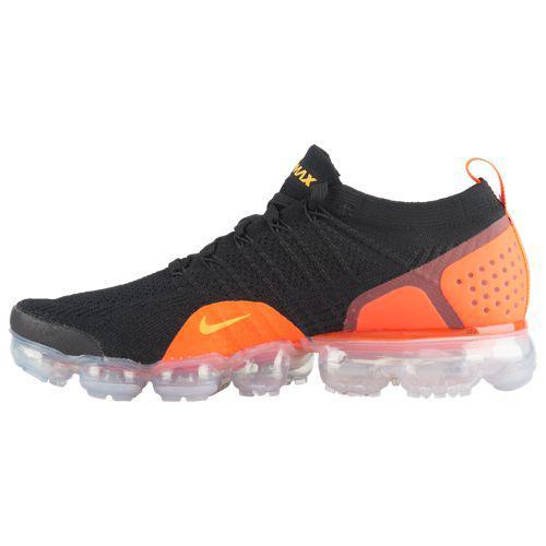 promo code 7e03a a4291 (order) Nike men sneakers running shoes air vapor max fried food knit 2  Nike Men s Air Vapormax Flyknit 2 Black Laser Orange Total Crimson