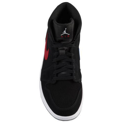 8387d8e9e42aaa (order) Jordan men Air Jordan AJ 1 mid sneakers Jordan Men s AJ 1 Mid Black  Varsity Red Varsity Royal White
