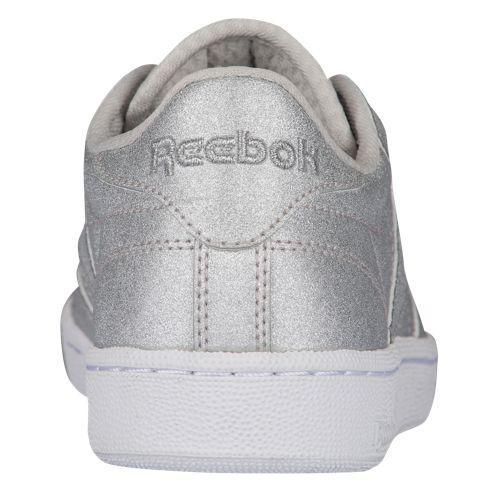 acfb274655d (order) Reebok Lady s club C 85 Reebok Women s Club C 85 Diamond Silver  Metallic Snow Grey White