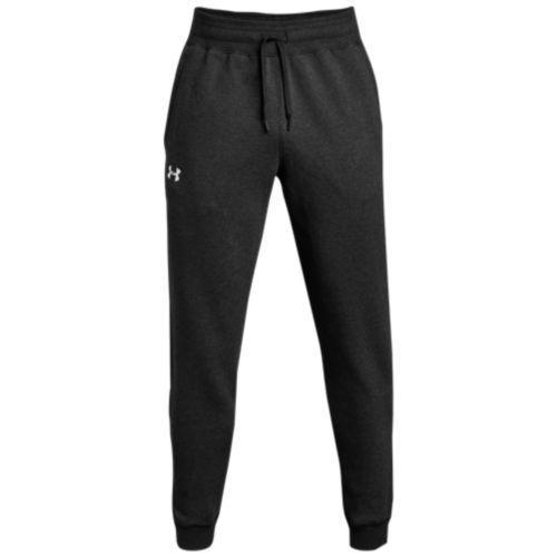 (取寄)アンダーアーマー メンズ チーム ハッスル フリース ジョガー パンツ Underarmour Men's Team Hustle Fleece Jogger Pants Black White