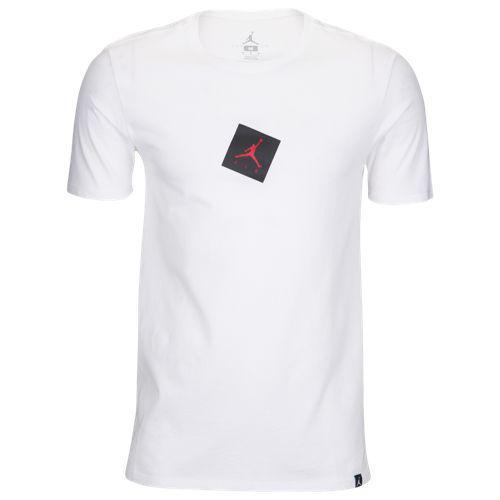 7f58344ad553d6 (order) Jordan men jump man air T-shirt Jordan Men s Jumpman Air T-Shirt  White Black Gym Red