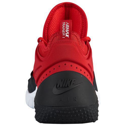 cheaper 910a1 e02a9 (order) Nike men sneakers Air Max trainer 1 training shoes Nike Men s Air  Max Trainer 1 University Red Black White