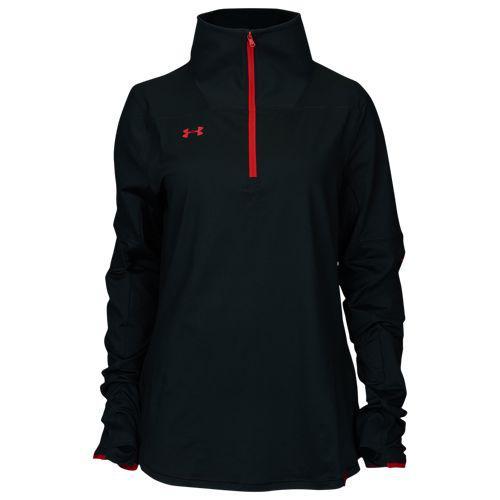 (取寄)アンダーアーマー レディース チーム ニット 1/2 ジップ Underarmour Women's Team Knit 1/2 Zip Black Red