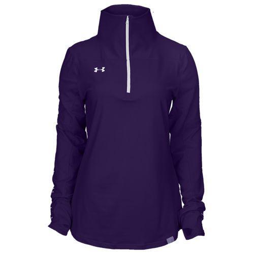 (取寄)アンダーアーマー レディース チーム ニット 1/2 ジップ Underarmour Women's Team Knit 1/2 Zip Purple White