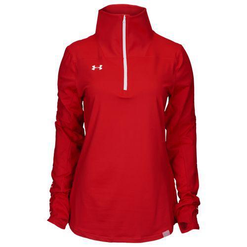 (取寄)アンダーアーマー レディース チーム ニット 1/2 ジップ Underarmour Women's Team Knit 1/2 Zip Red White