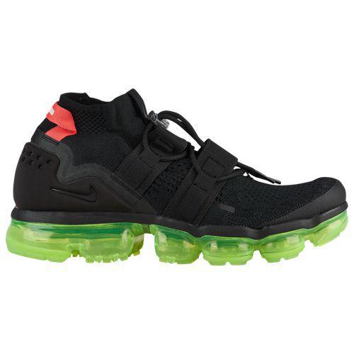 (取寄)ナイキ メンズ エア ヴェイパーマックス フライニット ユーテリティ Nike Men's Air Vapormax Flyknit Utility Black Black Volt Bright Crimson