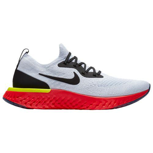 (取寄)ナイキ メンズ エピック リアクト フライニット Nike Men's Epic React Flyknit True White Black Pure Platinum Bright Crimson