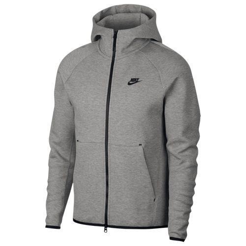 (取寄)ナイキ メンズ パーカー テック フリース フルジップ フーディ Nike Men's Tech Fleece Full-Zip Hoodie Dark Grey Heather Black Black
