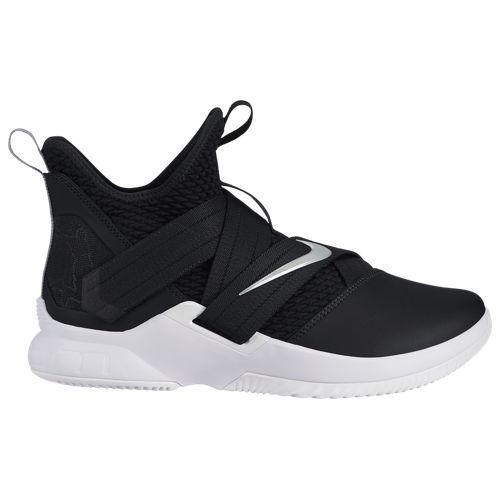 (取寄)ナイキ メンズ レブロン ソルジャー 12 レブロン ジェームズ Nike Men's LeBron Soldier XII Lebron James Black Metallic Silver White