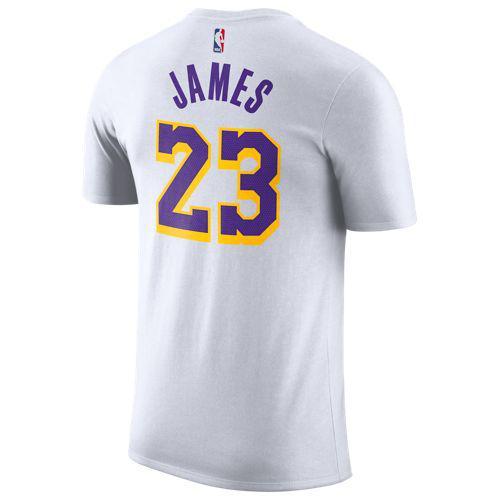 ナイキ メンズ NBA プレーヤー ネーム & ナンバー Tシャツ ロサンゼルス レイカーズ レブロン ジェームズ Nike Men's NBA Player Name & Number T-Shirt ロサンゼルス レイカーズ Lebron James White