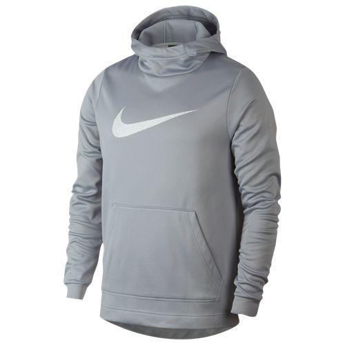 (取寄)ナイキ メンズ サーマ フーディ Nike Men's Therma Hoodie Wolf Grey White
