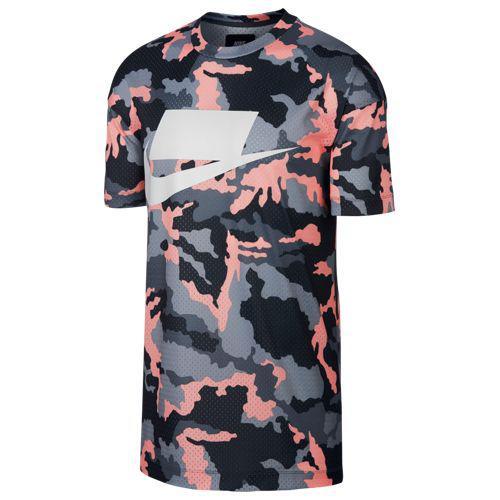 (取寄)ナイキ メンズ メッシュ カモ フューチュラ Tシャツ Nike Men's Mesh Camo Futura T-Shirt Anthracite Storm Pink White