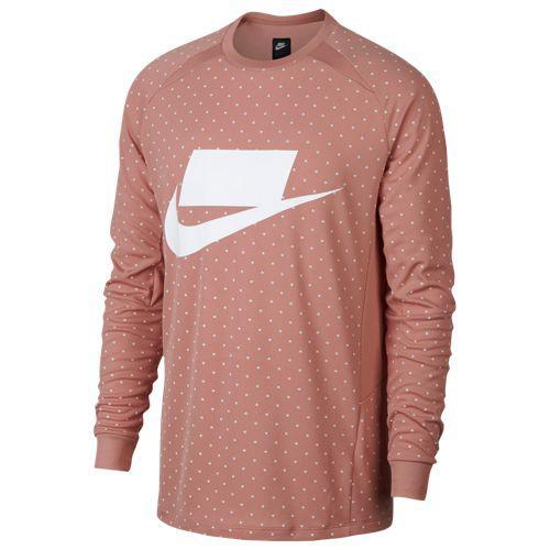 (取寄)ナイキ メンズ ニット ロング スリーブ トップ Nike Men's Knit Long Sleeve Top Rust Pink Rust Pink White