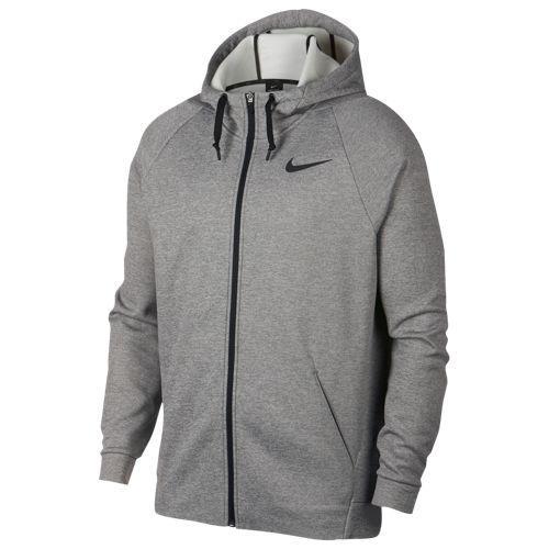 (取寄)ナイキ メンズ パーカー サーマ フル ジップ フーディ Nike Men's Therma Full Zip Hoodie Dark Grey Heather Black