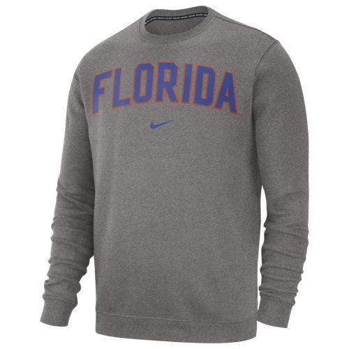 (取寄)ナイキ メンズ カレッジ クラブ フリース クルー フロリダ ゲイターズ Nike Men's College Club Fleece Crew フロリダ ゲイターズ Dark Grey Heather