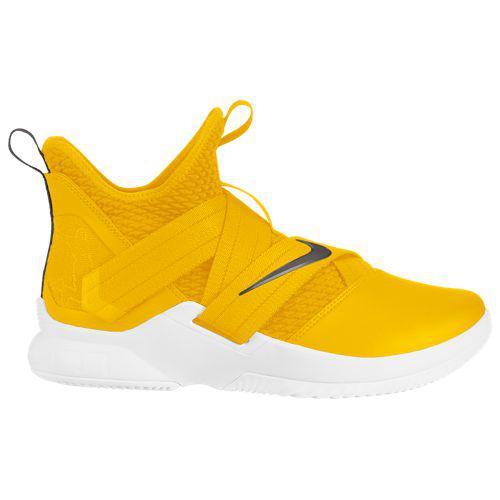 (取寄)ナイキ メンズ レブロン ソルジャー 12 レブロン ジェームズ Nike Men's LeBron Soldier XII Lebron James University Gold Dark Grey White