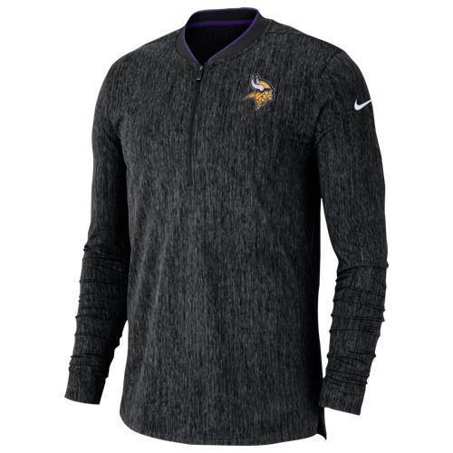 (取寄)ナイキ メンズ NFL コーチ サイドライン 1/2 ジップ トップ ミネソタ バイキングス Nike Men's NFL Coaches Sideline 1/2 Zip Top ミネソタ バイキングス Black