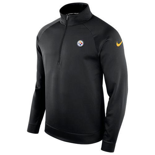 (取寄)ナイキ メンズ NFL サーマ 1/2 ジップ ロングスリーブ トップ ピッツバーグ スティーラーズ Nike Men's NFL Therma 1/2 Zip L/S Top ピッツバーグ スティーラーズ Black