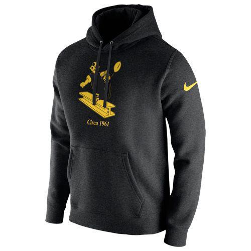 (取寄)ナイキ メンズ NFL プルオーバー フリース クラブ フーディ ピッツバーグ スティーラーズ Nike Men's NFL Pullover Fleece Club Hoodie ピッツバーグ スティーラーズ Black