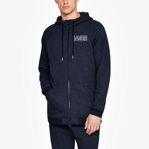 (取寄)アンダーアーマー メンズ ベースライン フリース F/Z フーディ Underarmour Men's Baseline Fleece F/Z Hoodie Midnight Navy Light Heather Midnight Navy
