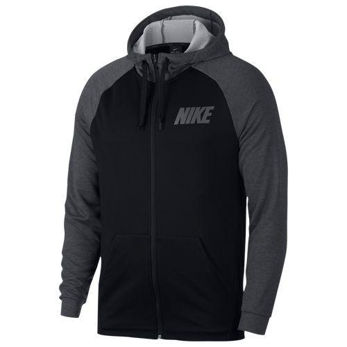 (取寄)ナイキ メンズ ライトウェイト フル ジップ フリース フーディ Nike Men's Lightweight Full Zip Fleece Hoodie Black Charcoal Dark Grey