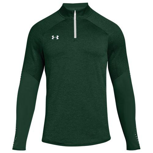 (取寄)アンダーアーマー メンズ チーム Qualifier ハイブリッド 1/4 ジップ Underarmour Men's Team Qualifier Hybrid 1/4 Zip Forest Green White