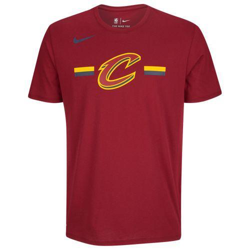 (取寄)ナイキ メンズ NBA ロゴ ストライプ Tシャツ クリーブランド キャバリアーズ Nike Men's NBA Logo Stripe T-Shirt クリーブランド キャバリアーズ Team Maroon