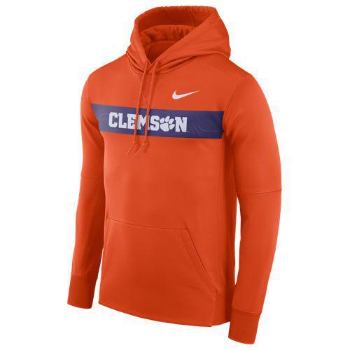 (取寄)ナイキ メンズ カレッジ サイドライン サーマ シズミック PO フーディ クレムソン タイガース Nike Men's College Sideline Therma Seismic PO Hoodie クレムソン タイガース Orange