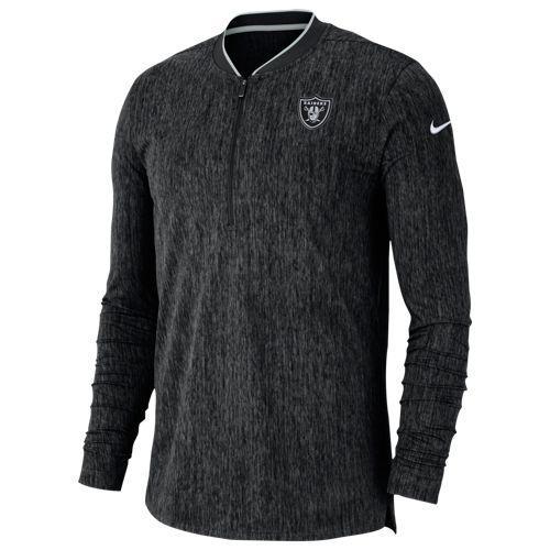 (取寄)ナイキ メンズ NFL コーチ サイドライン 1/2 ジップ トップ オークランド レイダーズ Nike Men's NFL Coaches Sideline 1/2 Zip Top オークランド レイダーズ Black