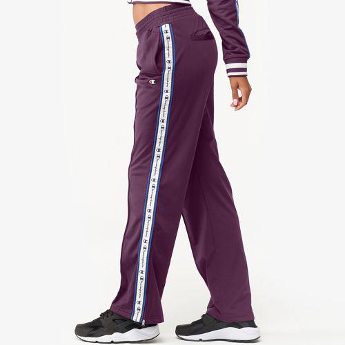 (取寄)チャンピオン レディース テープド トラック パンツ Champion Women's Taped Track Pants Dark Berry Purple